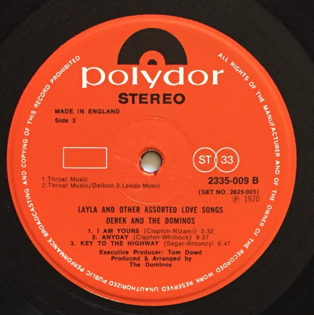 Derek Amp The Dominos Layla And Other Assorted Love Songs