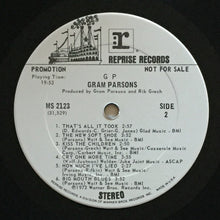 Load image into Gallery viewer, (parsons, gram) | Gram Parsons [GP] White Label Promo