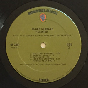 (black sabbath) | Black Sabbath [Paranoid] US Original