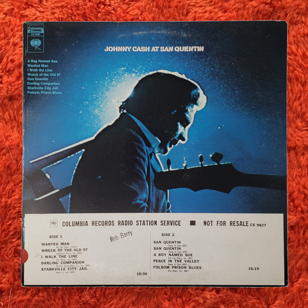 (cash, johnny) | Johnny Cash [Johnny Cash At San Quentin] White Label Promo