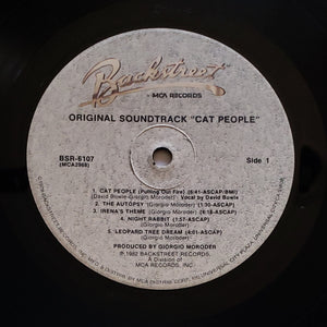 (moroder, giorgio) | Giorgio Moroder [Cat People - Original Soundtrack] US Backstreet Promo