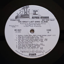 Load image into Gallery viewer, (kinks) | The Kinks [The Great Lost Kinks Album] White Label Promo