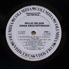 Load image into Gallery viewer, (nelson, willie) | Willie Nelson [Sings Kristofferson] White Label Promo