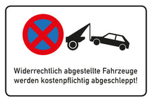 Laden Sie das Bild in den Galerie-Viewer, Parken Verboten Schild