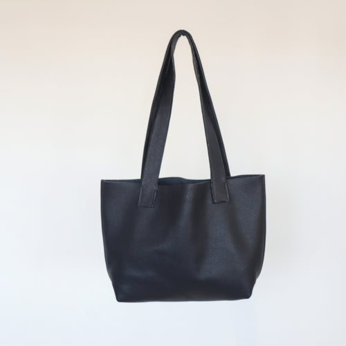 Navy Everyday Leather Tote