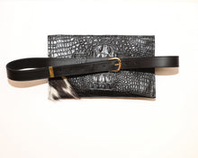 Load image into Gallery viewer, Calfhair & Croc Waistbag