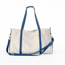 Load image into Gallery viewer, Beige & Navy Duffel