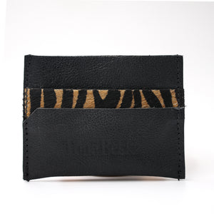 Tiger & Black Leather Card Holder