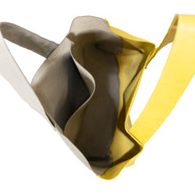 Load image into Gallery viewer, Sunburst Yellow & Gray Everyday Leather Tote