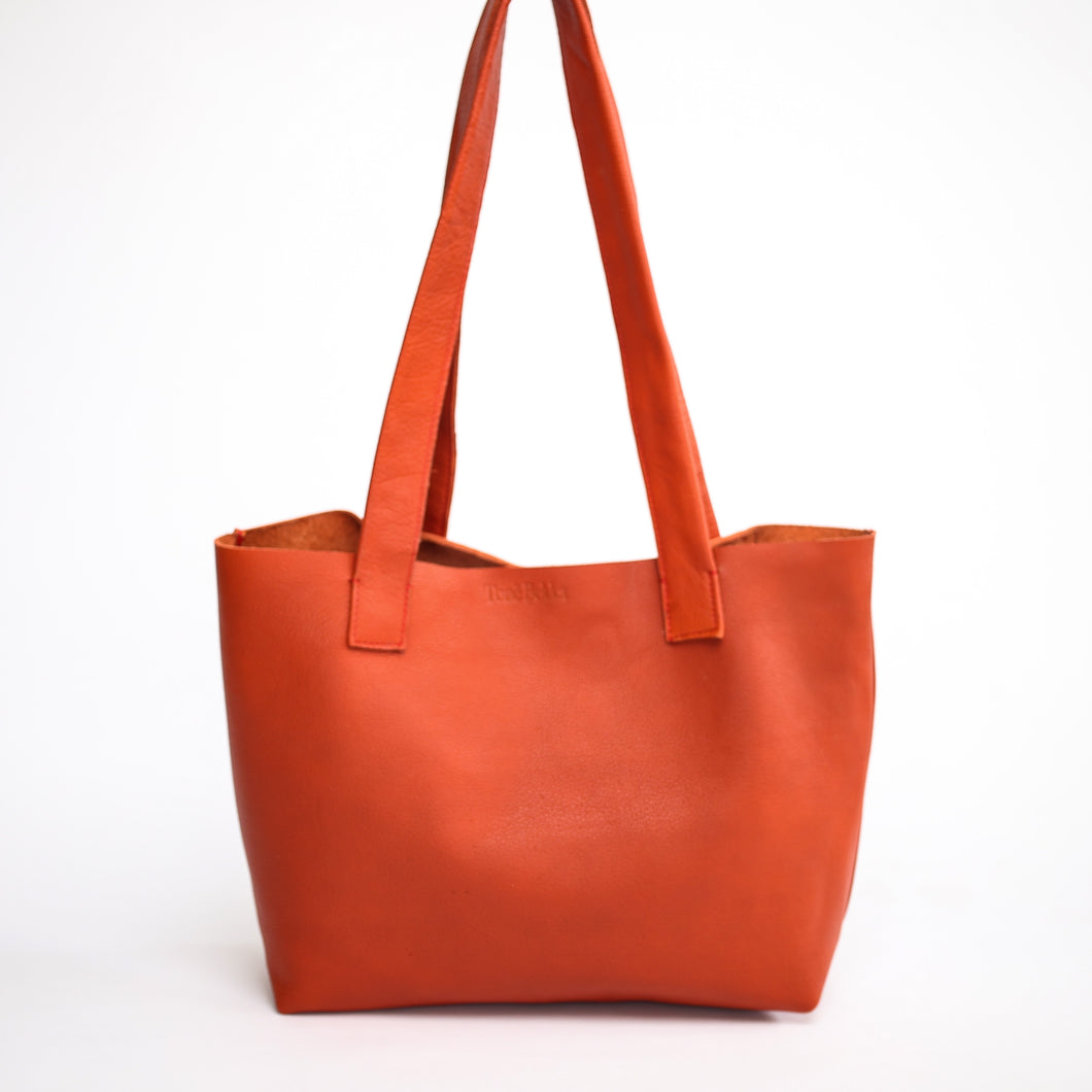 Clay Red Everyday Leather Tote