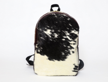 Load image into Gallery viewer, Calfhair & Wine Leather Backpack