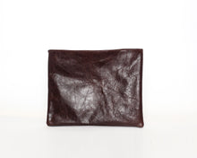 Load image into Gallery viewer, Brown Leather & Croc Skin Laptop Sleeve