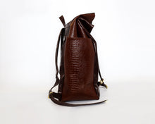 Load image into Gallery viewer, The Ruck Leather & Croc Backpack