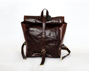 The Ruck Leather & Croc Backpack