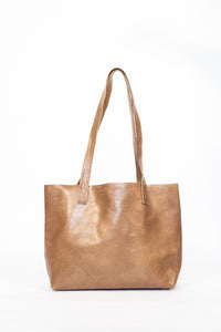 Everyday Tan Leather Tote