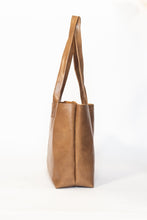 Load image into Gallery viewer, Everyday Tan Leather Tote