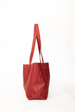 Load image into Gallery viewer, Red Leather Tote