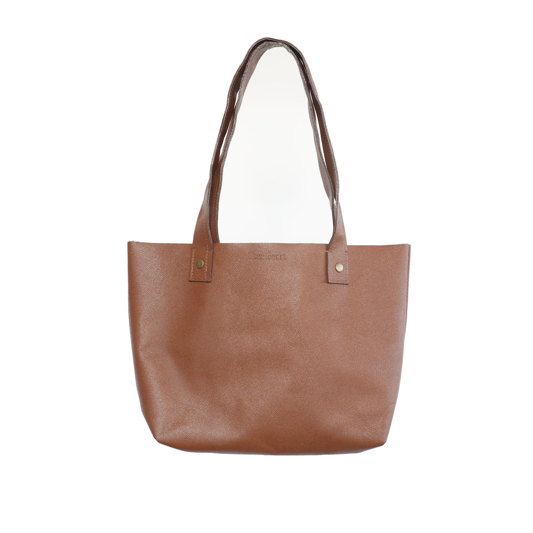 Cognac Tan Everyday Leather Tote