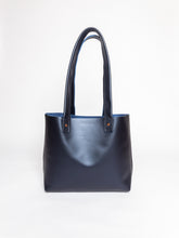 Load image into Gallery viewer, Everyday Pearl Navy Leather Tote