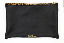 Load image into Gallery viewer, Cheetah Foldover Leather Clutch