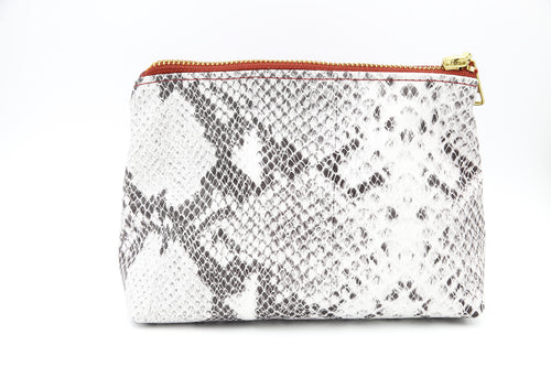 Snakeskin Leather Cosmetic Case