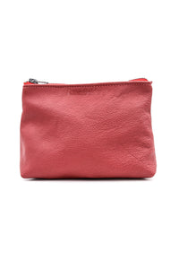 Red Leather Cosmetic Case