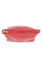 Load image into Gallery viewer, Red Leather Cosmetic Case