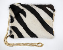 Load image into Gallery viewer, Zebra Hair Leather Crossbody