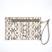 Load image into Gallery viewer, Snakeskin Leather Wristlet
