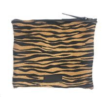 Load image into Gallery viewer, Cheetah and tiger Calfhair Clutch