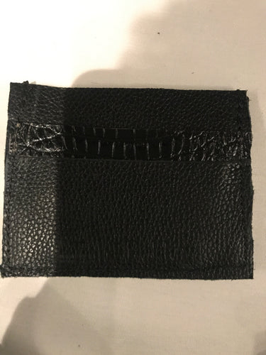 Black and croc card holder