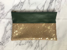 Load image into Gallery viewer, Acid Gold Calfhair Clutch