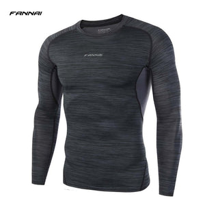 Men Long Sleeve fitness Basketball Running Sports T Shirt Men Thermal Muscle Gym Bodybuilding Compression Tights Tees New arrive