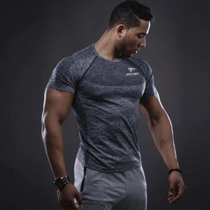 Men Elastic Quick Dry Fit Sports T-Shirt