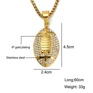Gold Rugby Football Necklaces & Pendants Jewelry
