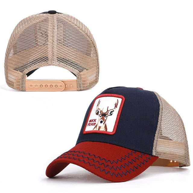 Baseball Animal Embroidery Summer Caps