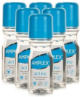 Amplex Antiperspirant Roll On Active 6 Pack