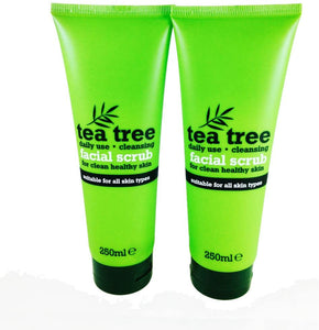 Tea Tree Facial Scrub 250ml, Pack of 2 x 250ml