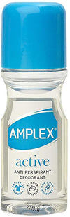 Amplex Active Anti-Perspirant Deodorant Roll On 50ml (Pack of 12)
