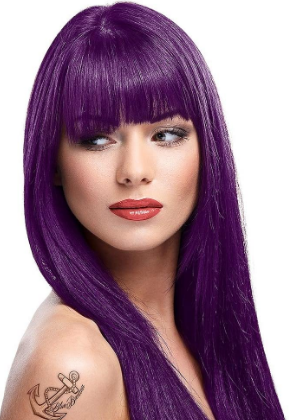 La Riche Directions Semi-Perm Hair Colour Violet 88ml with Darque Dye Bowl and Brush Accessory Set