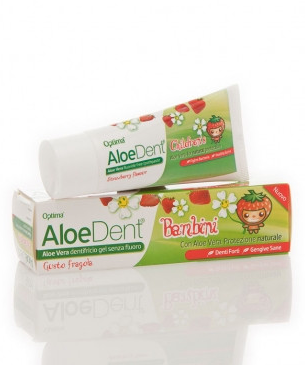 Aloe Dent Children's Fluoride Free Toothpaste 50ml (Pack of 3)