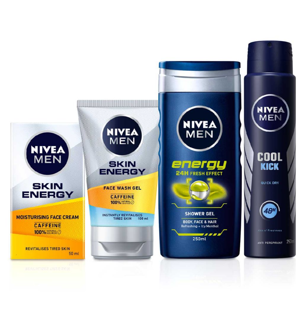 NIVEA MEN Skin Energy Anti-Fatigue Grooming Bundle