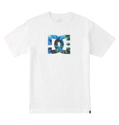 MEN'S STAR TIE DYE T-SHIRT- White