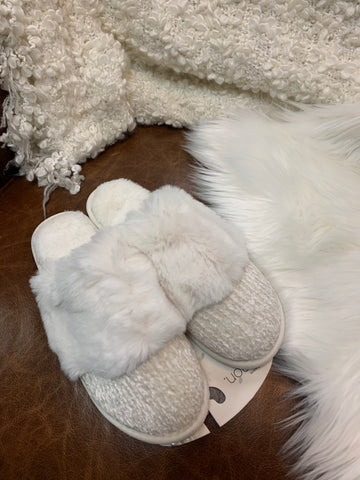 Cozy Cabin Slide Slipper- Almond