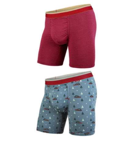BN3TH Classic Boxer Brief-2 pk Holiday Crimson