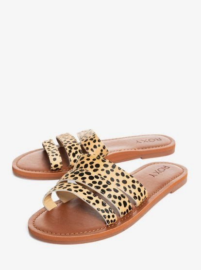 Wyld Rose Leather Sandals- Cheetah