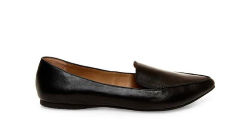 Black Feather Light Flats