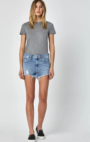 ROSIE IN MID RETRO 80S High Rise | Denim Shorts
