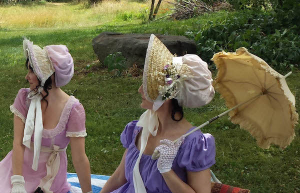 Wearing our cobbled bonnets