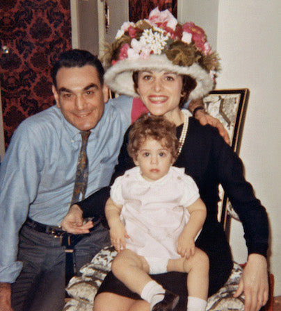 Liza and her parents, c. 1967, (c)BDV